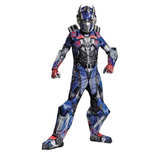 Disguise Costumes Boy's Transformers Age of Extinction Prestige Optimus Prime Kids Costume, Small (4-6), Red/Blue