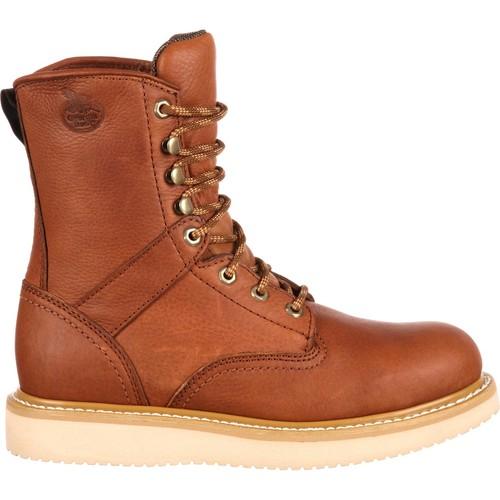 Georgia Boot Mens Leather 8