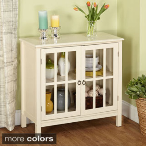 Linon Galway Antique White Cabinet