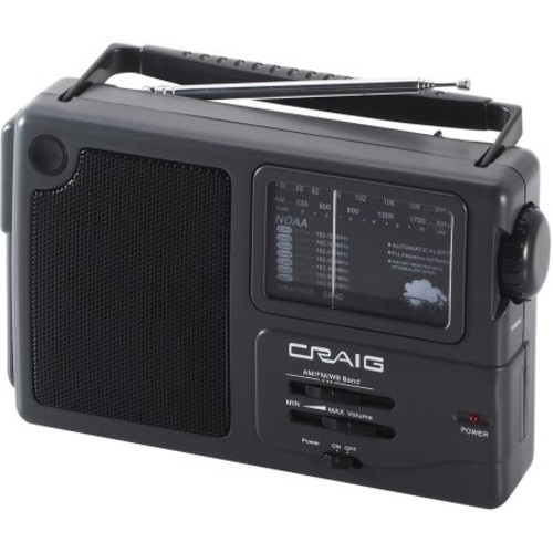 Craig Portable AM/FM Radio with Weather Band
