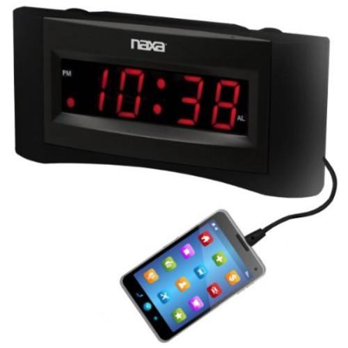 Naxa Nrc-165 Desktop Clock Radio - Mono - 2 X Alarm - Fm - Usb (nrc-165)