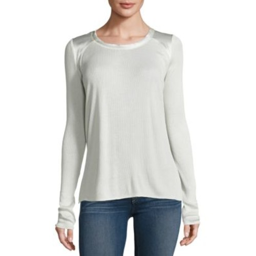 RAG & BONE Gunner Silk Rib-Knit Top