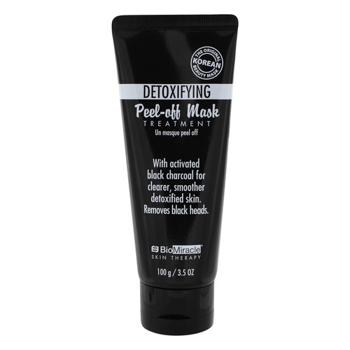 BioMiracle - The Original Korean Detoxifying Peel-Off Charcoal Face Mask Treatment - 3.5 oz.