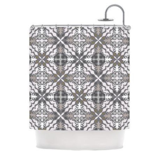 KESS InHouse Let In Snow Polyester Shower Curtain