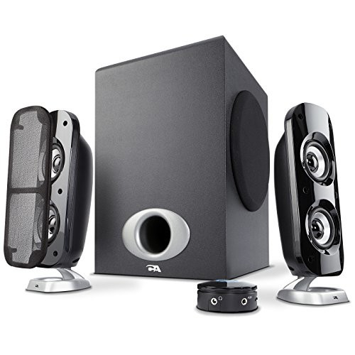 Cyber Acoustics Computer Speakers with Subwoofer, 80W Peak Power, 2.1 Multimedia Speakers for Gaming, Music and Movies (CA-3810)