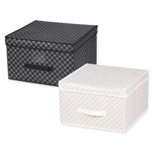 Home Basics Blossom Jumbo Storage Box with Lid