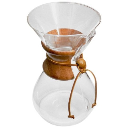 Chemex 10-Cup Classic Series Glass Coffee Maker [10-Cup, Classic]