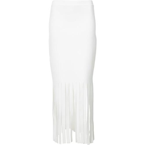 ALEXANDER WANG Long Shredded Skinny Skirt