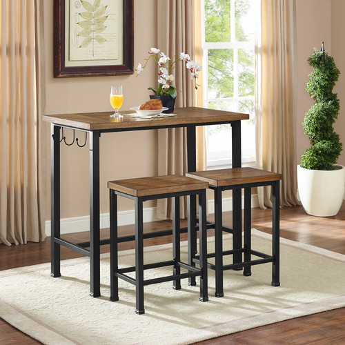 Essential Home 3-Pc. Metal and Wood Pub Set