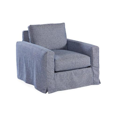 Brynne Slipcover Club Chair, Indigo