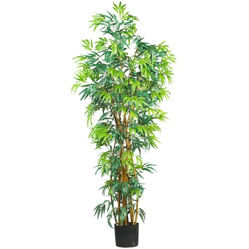 nearly natural 6-ft. Silk Fancy Bamboo Tree