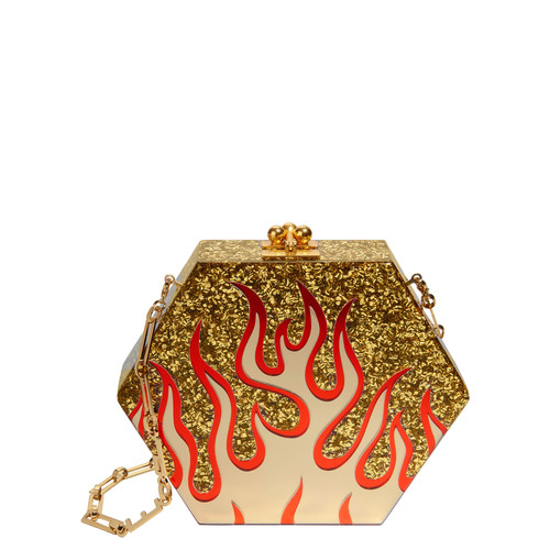 EDIE PARKER Macy Flames Shoulder Bag