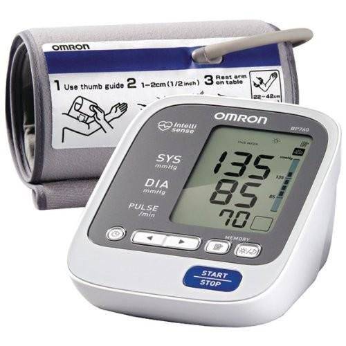 Omron 7 Series Upper Arm Blood Pressure Monitor with Two User Mode (120 Reading Memory)