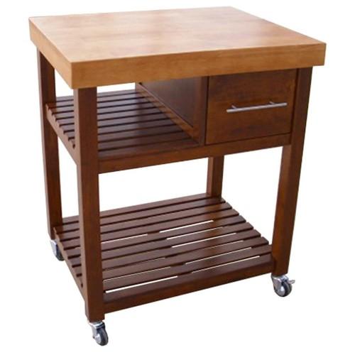 International Concepts Kitchen Work Center with Castors Cinnemon/Espresso