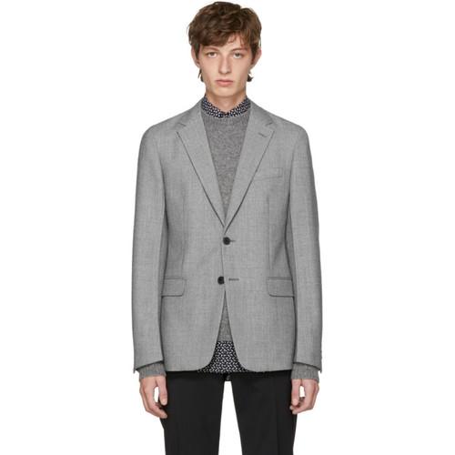 PRADA Grey Wool Blazer