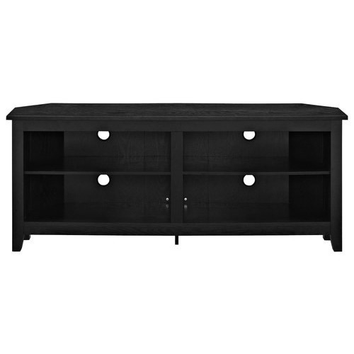 Walker Edison - Corner TV Stand for Most TVs Up to 60