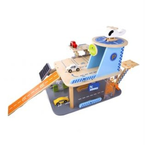 Classic Toy 4148 Wood Green Garage Playset