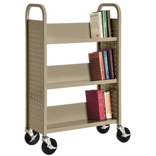 Sandusky Lee SL327-04 Single Sided Sloped Shelf Welded Bookcase, 14