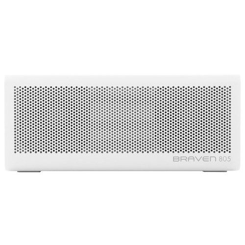 BRAVEN - 805 Portable Bluetooth Speaker - White/Gray
