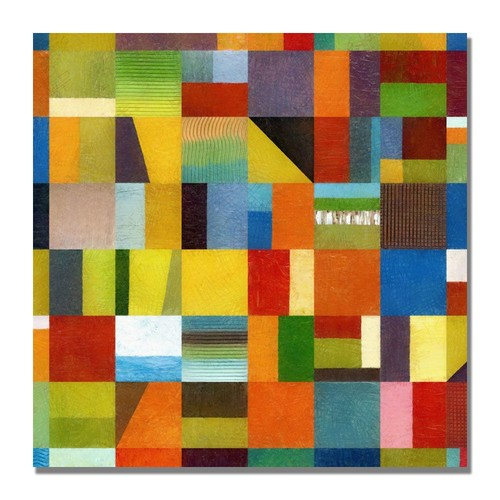 Trademark Global Michelle Calkins 'Eye Candy 64' Canvas Art [Overall Dimensions : 35x35]