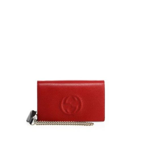 GUCCI Soho Chain Strap Leather Crossbody