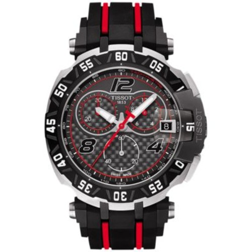 Tissot Men's Swiss Chronograph T-Race MotoGP Limited Edition 2016 Black & Red Rubber Strap Watch 45x47mm T0924172720700