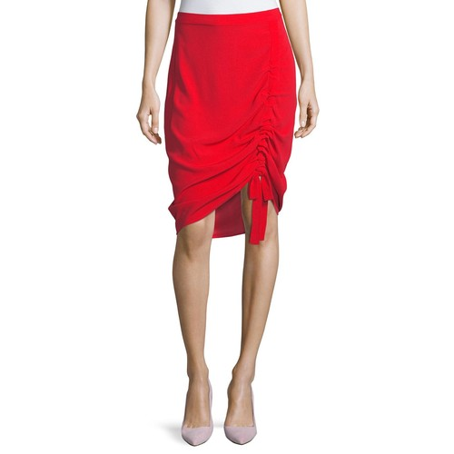 ALEXIS Ivy Crepe Ruched Skirt