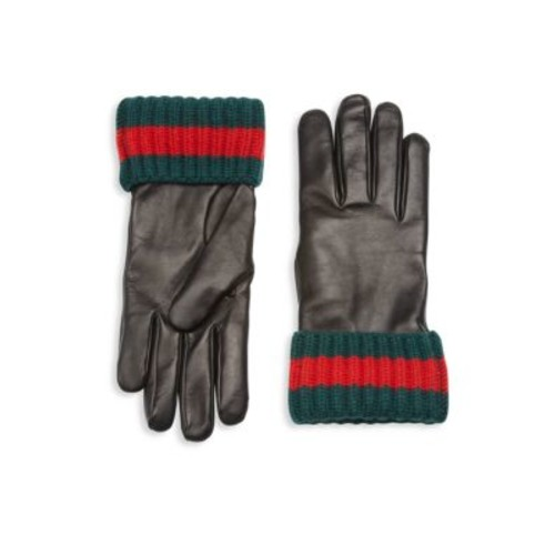 GUCCI Cashmere & Leather Blend Gloves