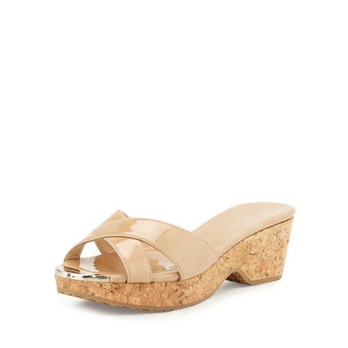 Panna Patent Slide Sandal