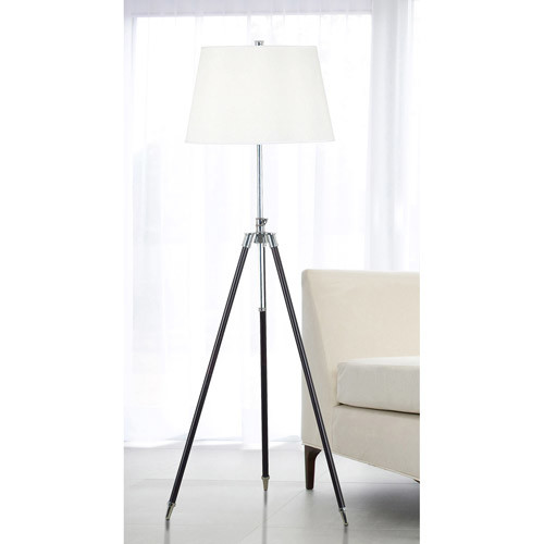 Kenroy Home Surveyor Floor Lamp, Oil Rubbed Bronze with Chrome Accents