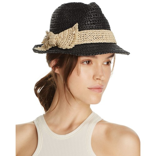 KATE SPADE NEW YORK Crochet Packable Stripe Fedora Hat