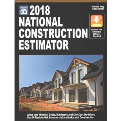 National Construction Estimator 2018 : Includes Free Estimating Software Download (Paperback)