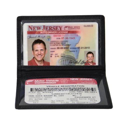 Royce Leather Mini ID-Case [Black, One Size]