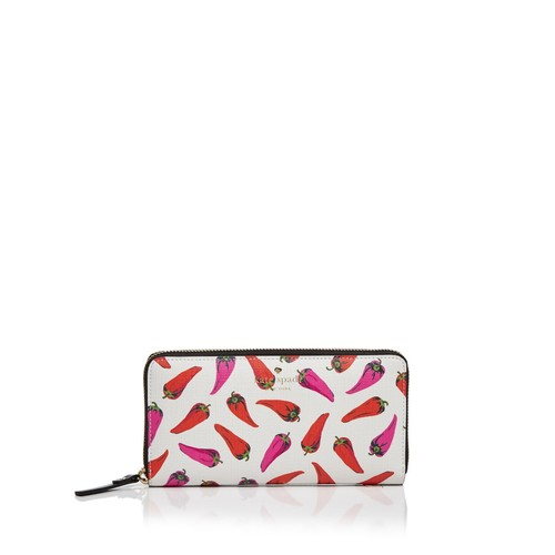KATE SPADE NEW YORK Lacey Hot Pepper Print Wallet
