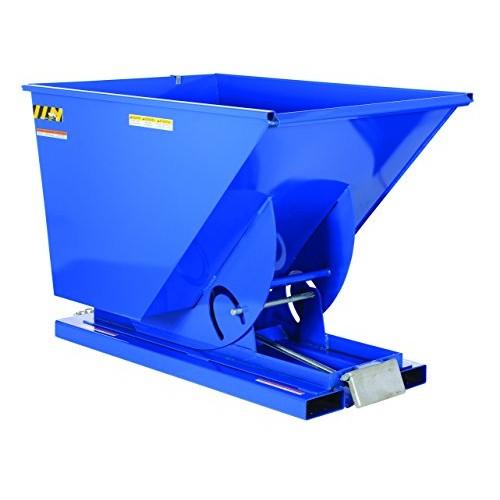 Vestil D-150-HD Self Dumping Hopper - Heavy Duty - Blue