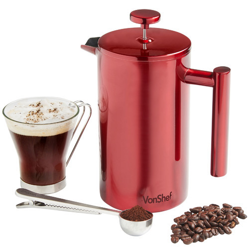 Double Wall Stainless Steel French Press Coffee Maker