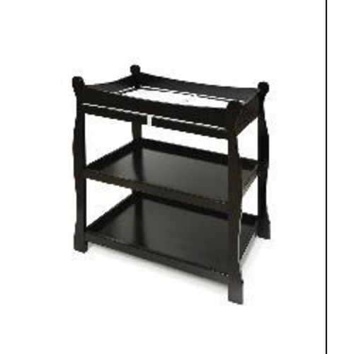 Sleigh-style Black Changing Table