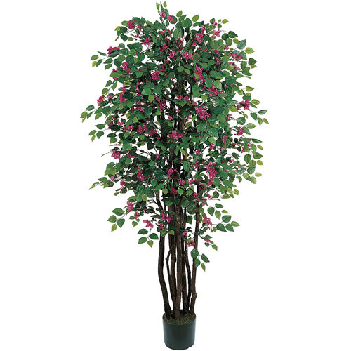 Nearly Natural Bougainvillea Tree with Pot