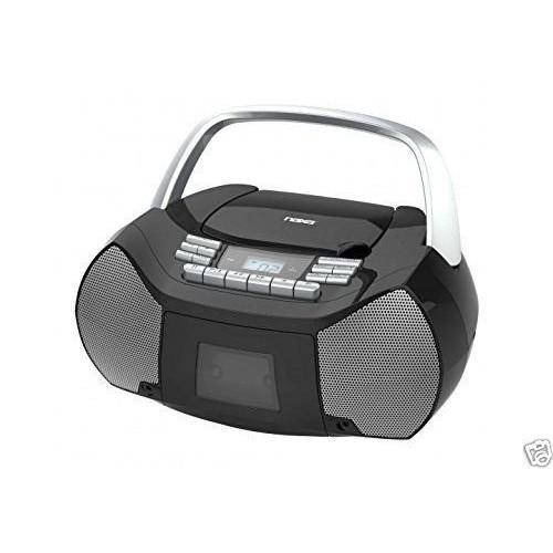 NAXA Electronics NPB-268 Portable CD/Cassette Boombox AM/FM Radio Player