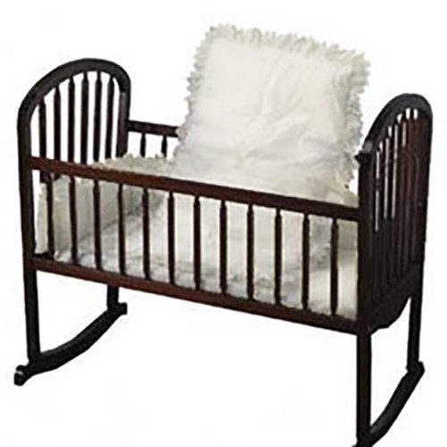Baby Doll White Eyelet Cradle Bedding