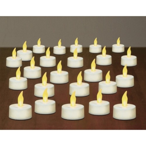 Inglow Flameless Tea Light Candles in White (CG29619WH)