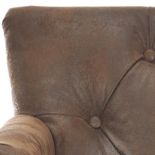 Safavieh Manchester Antiqued Brown Tufted Club Chair