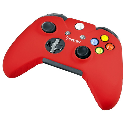 Insten Rubber Silicone Skin Gel Case Cover Compatible With Microsoft Xbox One, Red
