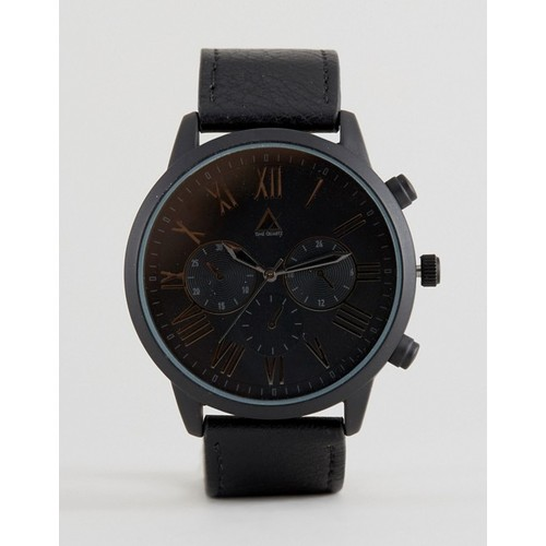 ASOS Watch In Black With Roman Numerals