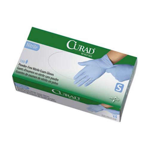Curad Powder-Free Nitrile Exam Gloves, Small, 150/Box, 10 Boxes per Case