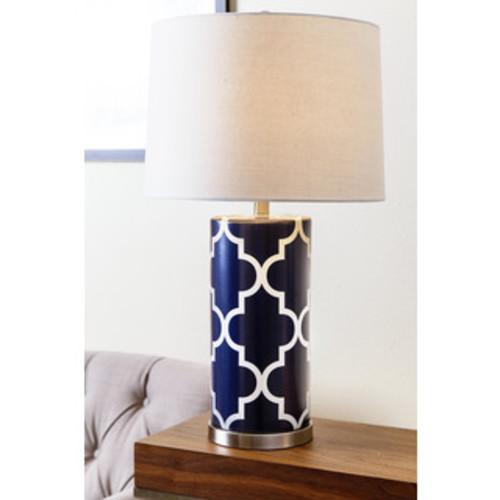 Safavieh Lighting 27-inch Navy Garden Lattice Table Lamp (Set of 2)