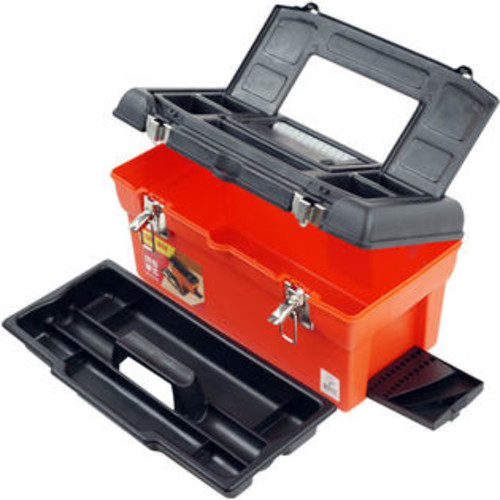 Trademark Tools Utility Box With 7 CompartMents and Tray 75-20105