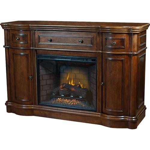 Bold Flame Vanderbilt 68 in. Media Console Electric Fireplace in Walnut