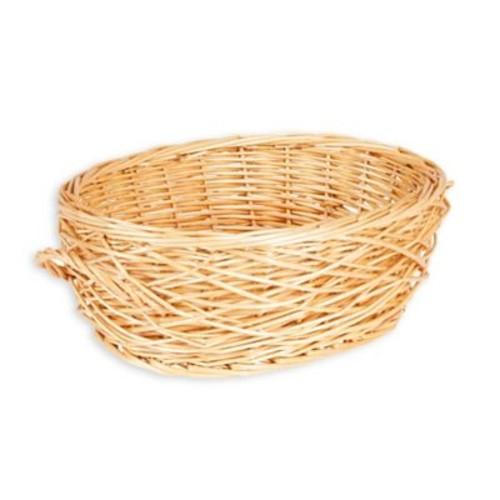 Household Essentials Spring Bird Nest Willow Oval Wicker Basket in Brown