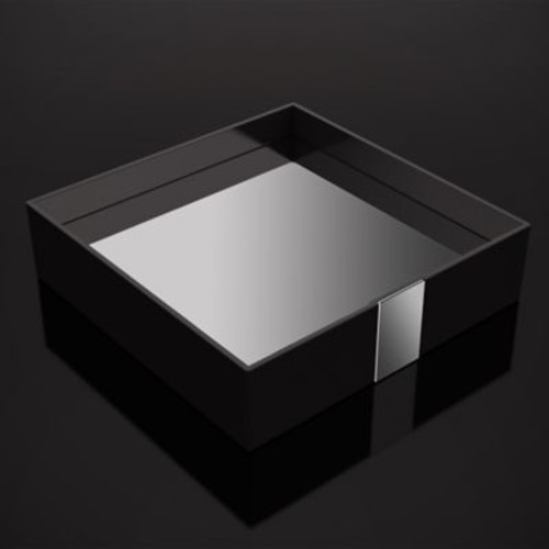 ZEN Design One Bathroom Accessory Tray; Black
